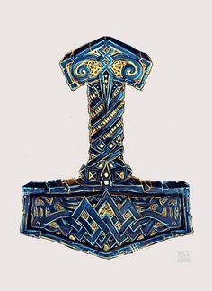 Thor's Mjölnir Artwork. territorioVIKINGO