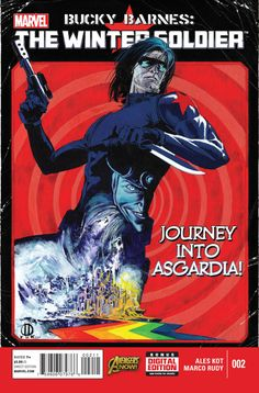 Winter Soldier traces the bullet that wounded him back to Asgard! Bucky Barnes has the key. Buy Comics, Marvel Comics, Comic Book Covers, Comic Books Art, Comic Art, Book Art, Bucky Barnes, Winter Soldier, Captain America And Bucky