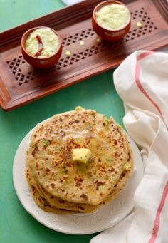 Mix Veg Paratha (Stuffed Indian flatbread) -Another healthy breakfast from the Punjabi kitchen. You can add any vegetables like broccoli, spring onions etc... even Paneer.