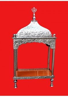 Steel Palki Sahib Super Deluxe With Tall Roof - Medium Size - Buy Palki Sahib Online – The Best Palki Sahibs in Steel – Order Palki Sahib Online and get it Delivered Worldwide – Beautiful Designs in Palki Sahib for Guru Granth Sahib Ji – The Online Stee