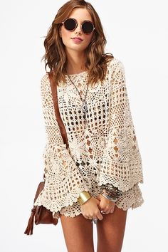 Ashbury Crochet Dress - Cream in Clothes at Nasty Gal