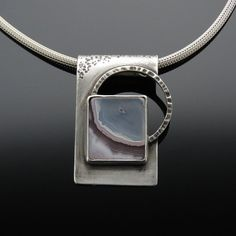 Chalcedony and Sterling Silver Pendant