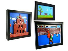 Some really cool NES shadow box art (xpost from r/NES)