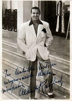 Crooner and movie star Alberto Rabagliati.