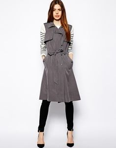Sleeveless Trench #Clothes #Shopping #CasualClothes