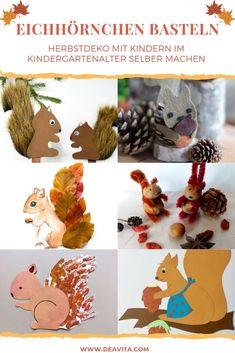 Kindergarten Portfolio, Diy Crafts For Kids, Squirrel, Upcycle, Alice, Place Card Holders, Activities, Paper, Decor
