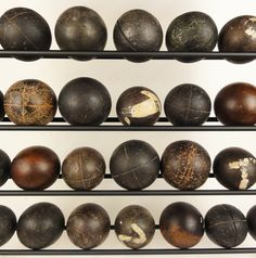 antique wooden balls