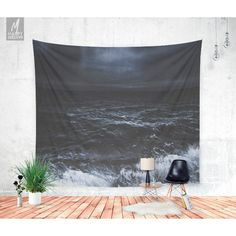 Lost in the Sea Wall Tapestry Tapestry Boho Wall Hanging Ocean... ($62) ❤ liked on Polyvore featuring home, home decor, wall art, grey, home & living, home décor, wall décor, ocean home decor, sea wall art and grey wall art