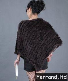 Neuf Etole Poncho Veste DE Fourrure EN Lapin D Élevage Véritable Tricoté  PT01   eBay b50b01c59cd