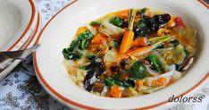 menestra de verduras caldosa con refrito de ajos , menestra, verduras, recetas con verduras, vegetarianos, sin gluten, fotografia, dolorss, blog de cuina