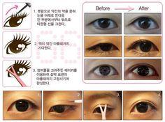 Double Eyelids in A Minute with Double Eyelid Maker Glue Gel.