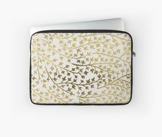 """Gold Ivy by Cat Coquillette 13"""" Laptop Sleeve"""