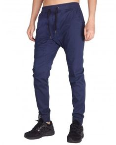 2057cad7c468d9 Men Chino Jogger Casual Pants-Slim Fit Black