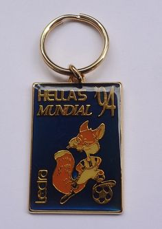 1994 FIFA World Cup Greece # Fox Emblem Enamel Keychain Free Shipping  | eBay