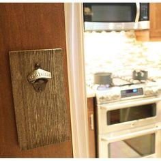 Adding A Little Rustic To My Urban Kitchen Reclaimed Cedar Barn Board Bottle Opener