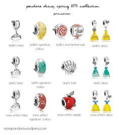 pandora disney spring 2015  I would love ALL the tiaras, snow white's apple and Bell's dress.  https://morapandora.wordpress.com