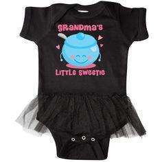 Grandma's Little Sweetie Infant Tutu Bodysuit for a granddaughter has cute sugar bowl design. $29.99 www.personalizedgrandma.com