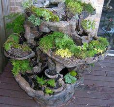 Planter/Fountain handmade out of Hypertufa