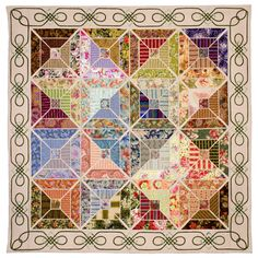Tantalising Tiles by Val Moore of Australia I think the design would be lovely in a quilt.