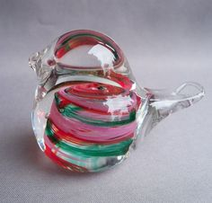Shoply.com -Hand Blown Art Glass Small Multicolor Bird. Only $25.00
