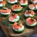 These everything bagel cucumber bites with smoked salmon will satisfy your biggest, doughiest bagel craving--without all the calories and carbs.