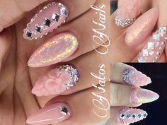 Uñas Acrilicas Decoradas | Bling Bling Glamour Nails | Natos Nails