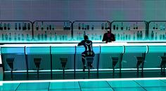 Concept Art for TRON: Uprising bar from episode The Renegade: Part 1. I designed and built out this night club set used for several shots - including the dance floor sequence in a few scenes reverse from this camera angle.  Art Direction by Alberto Mielgo. The show is fantastic if you have not had and oppotunity yet to view it.  It is available on Disney XD, itunes, and others.