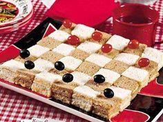 Checkerboard Cheese Sandwiches