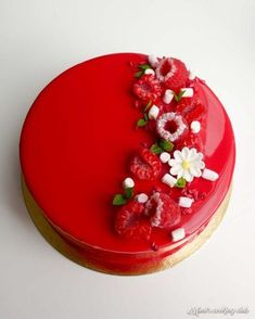 Very berry cake! Let the birthday be as bright as this cake! Fancy Desserts, Fancy Cakes, Cupcake Cakes, Cupcakes, Decoration Patisserie, Galaxy Cake, Valentines Day Cakes, Beautiful Desserts, Pastry Cake