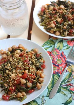 This Sauteed Broccoli Raab Chickpeas and Toasted Quinoa recipe is ...