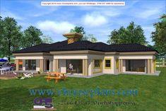 Beautiful House Plans, Simple House Plans, Family House Plans, Bedroom House Plans, Dream House Plans, Beautiful Homes, Contemporary House Plans, Modern House Design, Single Storey House Plans