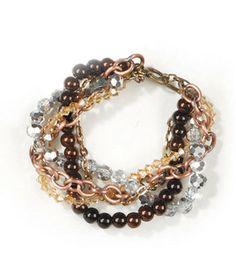 Autumn Twist Bracelet: jewelry & beading