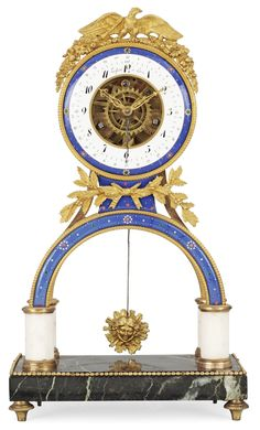 A FRENCH MANTEL CLOCK BY FAISANT, CIRCA 1800.
