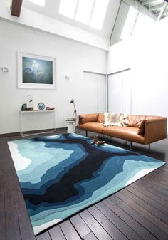 Creative Collections of Handmade Rugs - #floor, #rugs, #carpets, rugs, carpets, flooring Sheepskin Rug, Floor Rugs, Designer Rugs, Carpet Flooring, Rugs On Carpet, Carpets, Loft, Sandstone Wall, Turquoise Rug