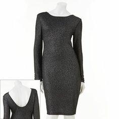 Jennifer Lopez Lurex Textured Sheath Dress