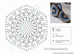 Тапочки из мотивов крючком — Страна рукоделия