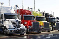 Haulers at Charlotte motor speedway
