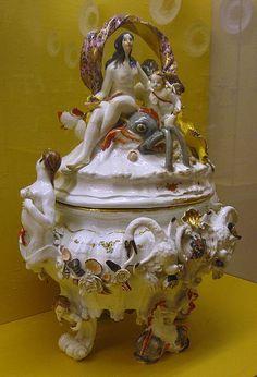 ** Dekorační mísa - zdobený porcelán ♣ Míšeň **