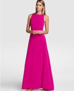 Vestido largo de mujer Elogy Colección Juanjo Oliva rosa