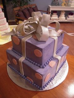 Two Tier Birthday Present Cake