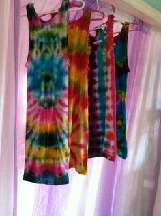 011040bbeb3079 Items similar to Tie-Dye Women s Tank Tops on Etsy