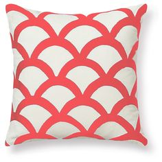 """Pillow Covers - Embroidered Wave Pillow Cover 