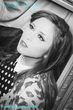 Vintage Pinup Makeup Black & White