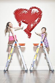 Fun Valentines Day Photo Idea with kids    mini session valentines day