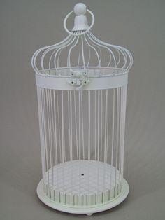 BCG002 Large Vintage Bird Cage : Cream Vintage Bird Cage Large