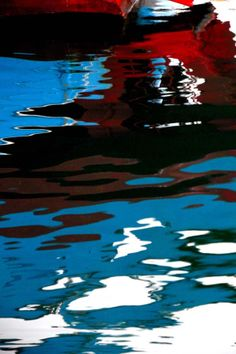 french seascapes blue red & black sea  fine art print by CoinBleu, $28.00