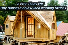 6 Free Plans For Tiny Houses/Cabins/Shed working Offices… Read HERE --- > http://www.livinggreenandfrugally.com/6-free-plans-for-tiny-housescabinsshed-working-offices/