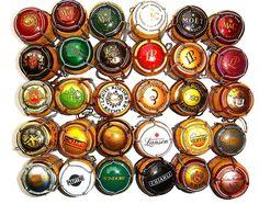 60 CHAMPAGNE CORKS W/CAPSULES MUSELET- DIFFERENT MANUFACTURERS+BONUS 25 CORKS