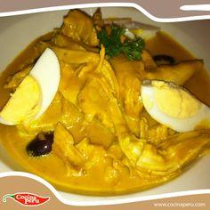 Uno de las platos más aclamados de nuestra gastronomía ¡AJÍ DE GALLINA!  Aprende a prepararlo con nosotros http://www.cocinaperu.com/platos-de-fondo/aji-de-gallina