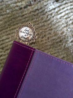 God Is Our Refuge And Strength Silver Decorative Metal Bookmark bible study bible verse I love books book lover Love to read Bible verse